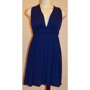 3/$25🌷 Lux Urban Outfitter Cross Back Blue Dress